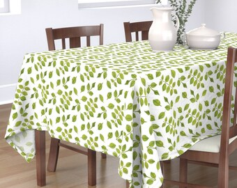 Botanical Leaves  Roses Bud Green Cotton Sateen Table Runner by Spoonflower Rose Buds And Leaves by hannamccown Floral Table Runner