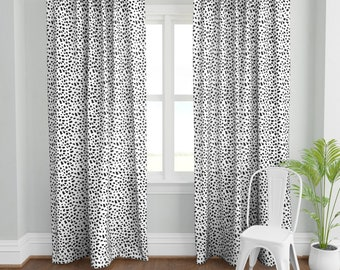Dalmatian Spots by eclectic/_house Animal Print Curtain Panel Dalmatian Dots Custom Curtain Panel by Spoonflower