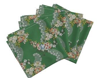 3b1a01cb9a1cb Rokoko-Servietten (4er Set) - Rosen Welle Brokat von Bonnie phantasm -  historischen Stoffservietten von Spoonflower
