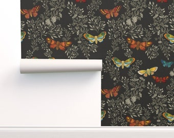 Peel-and-Stick Removable Wallpaper Moths Butterfly Butterflies Moth Nature