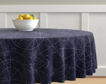 Gold Moon Phases Round Tablecloth Moon In Gold Faux Linen  by joanmclemore Gold Dots Cotton Sateen Circle Tablecloth by Spoonflower