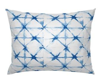 Tie Dye Cotton Sateen Pillow Sham Bedding by Spoonflower Orange Shibori Pillow Sham Shibori 18 Spice by