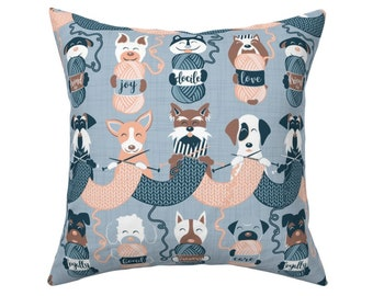 Pug Cushion Cover Personalised Dog Christmas Pillow Name Gift Puppy RD47