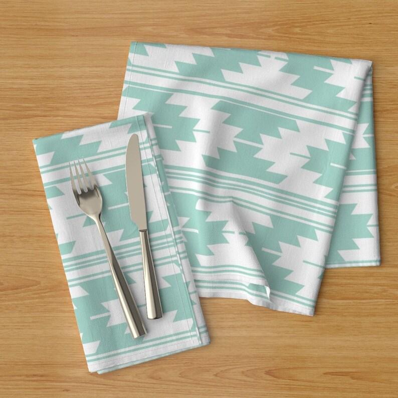 - Solid Aqua Kilim by ivieclothco Kilim  Elizabeth Ivie Ivieclothco R Set of 2 Kilim Cloth Napkins by Spoonflower Aqua Dinner Napkins
