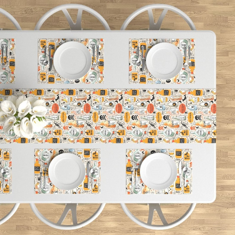 Poisons Cloth Placemats by Spoonflower Set of 4 Halloween Placemats - Vintage Potions by ohn/_mar/_win