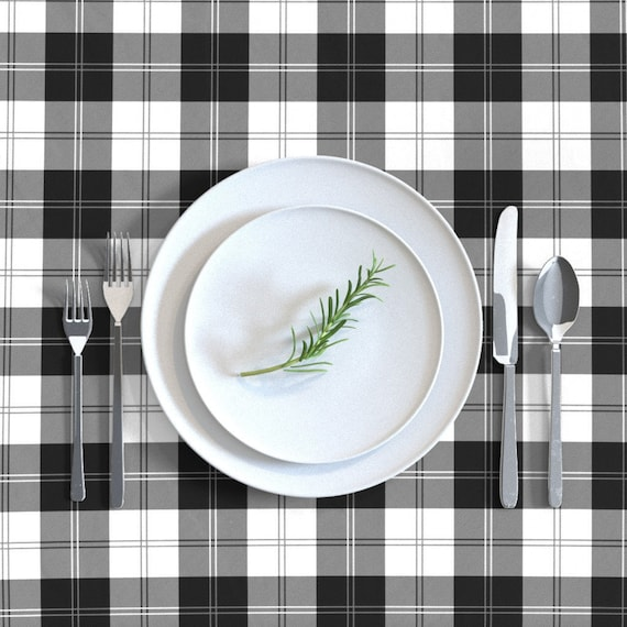 Buffalo Check Table Runner Gustav Bold Check In Basil by lilyoake Plaid  Tartan Geometric Cotton Sateen Table Runner by Spoonflower
