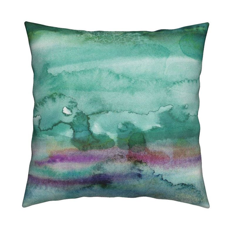 f11e6c7d303 Abstract Watercolor Throw Pillow Watercolour 26 by