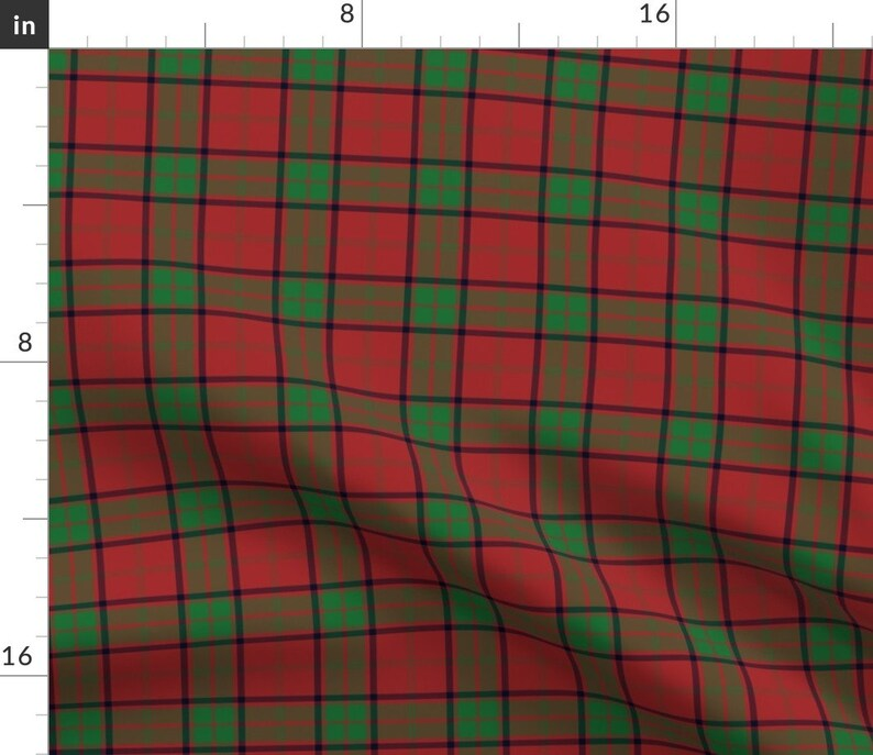 Christmas Table Runner Maxwell Clan Tartan by weavingmajor Plaid  Check Square Pattern Red Cotton Sateen Table Runner by Spoonflower