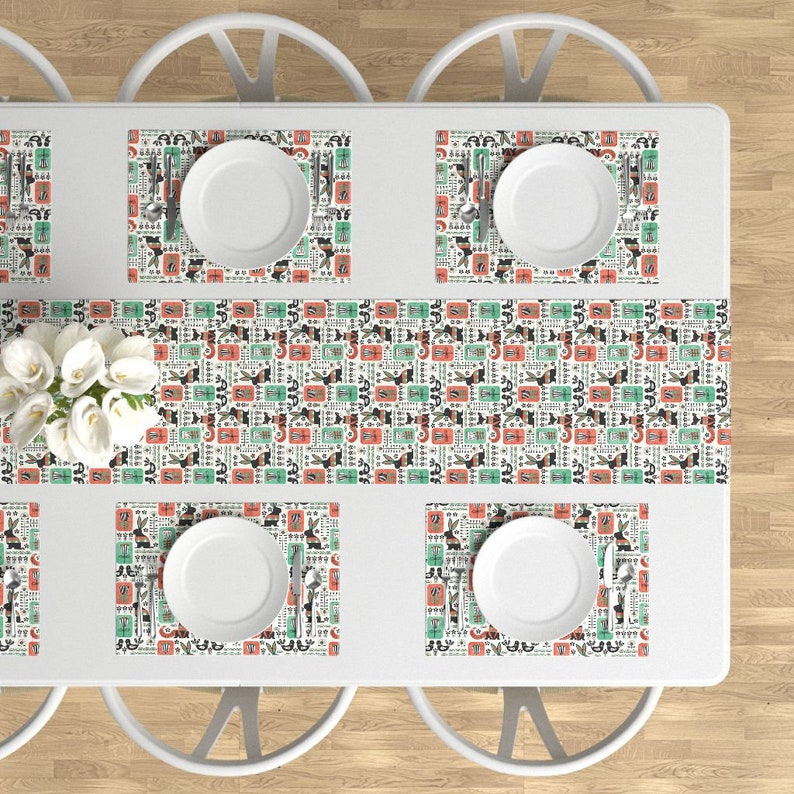 - Scandinavian by artypeaches Woodland Animals Cloth Placemats by Spoonflower Set of 4 Folk Art Placemats