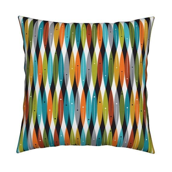 Mid Century Modern Throw Pillow Mod Pod 2 By Tonyanewton Etsy