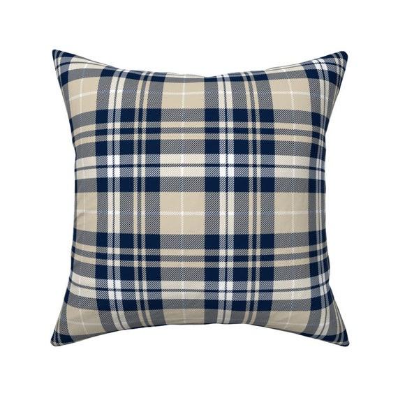 Rustic Tartan Throw Pillow Fall Plaid