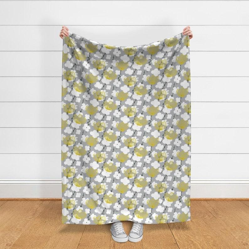 Japanese Garden In Grey By Friztin by friztin Mod Floral Throw Blanket Botanical  Garden Japanese Throw Blanket with Spoonflower Fabric