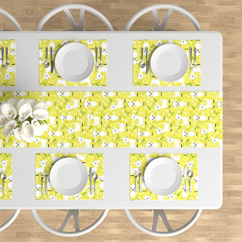 - Baby Goats by heleenvanbuul Flower Animal Barn Petting Zoo Horns Chevre Herd Cloth Placemats by Spoonflower Farm Placemats Set of 4