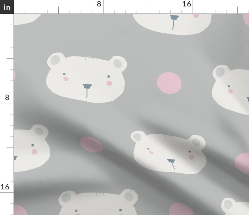 - Polar Bear by illumino Cute Polar Bear Dinner Napkins Set of 2 Nordic  Animals Polka Dots Nursery Girl Cloth Napkins by Spoonflower