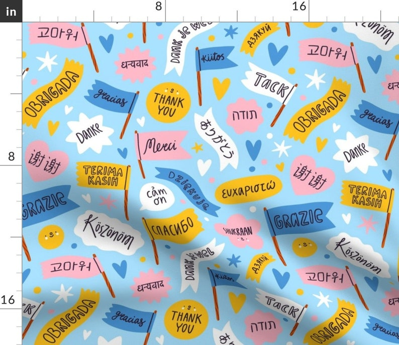 Thank You In 22 Languages by stolenpencil International  World Rectangle Lumbar Throw Pillow by Spoonflower Multicultural Accent Pillow