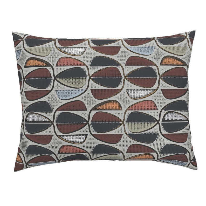 Head And Shoulders 15 by david/_kent/_collections Abstract Pillow Sham Geometric Cotton Sateen Pillow Sham Bedding by Spoonflower