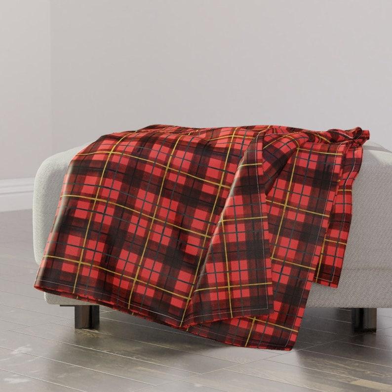 19108ffca8 Plaid Throw Blanket Red Tartan by crystal walen Holiday