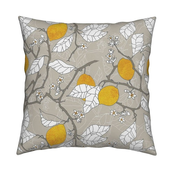f34b2b03b6b Lemons Throw Pillow The Lemon Orchard by Nouveau Bohemian