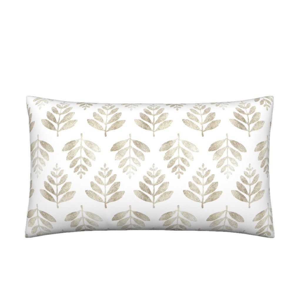 06ff7b8d71e Lumbar Throw Pillow Lau Leaf Silver By Nick Neuman