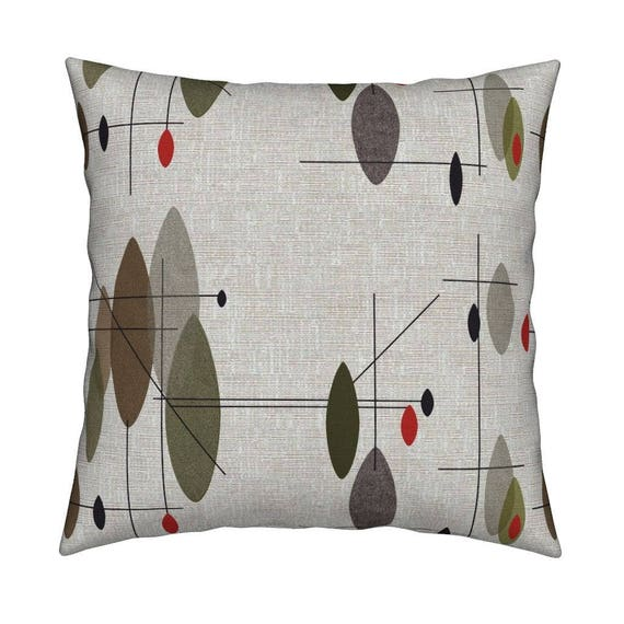 Mid Century Modern Throw Pillow Hanging Orbs By Mid Century Etsy