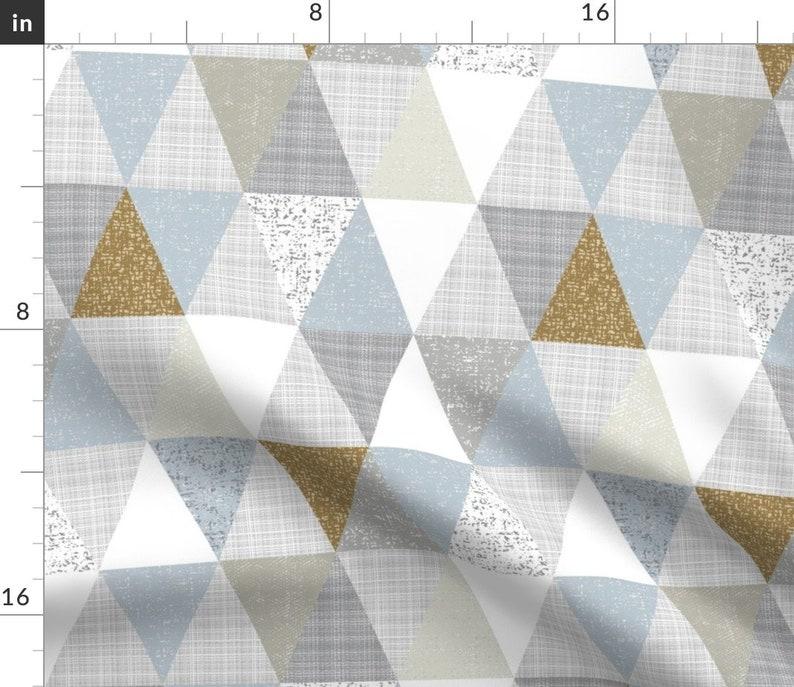 Neutral Geometric  18x18 Square Throw Pillow by Spoonflower Hygge Triangles by ottomanbrim Scandi Style Diamond Throw Pillow