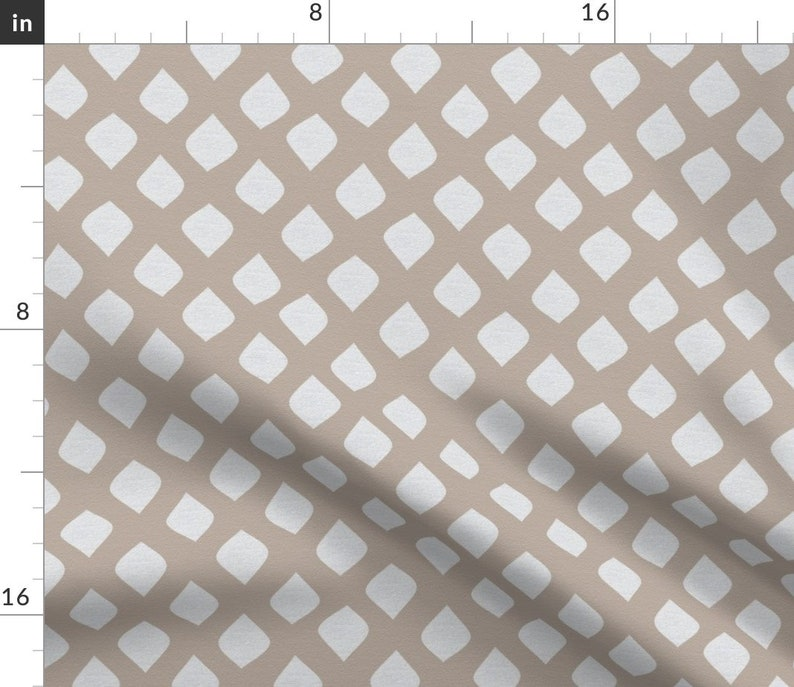 Neutral Beige Sandy Dot by janelle/_wooten Abstract Ogee  Brown White  Cotton Sateen Table Runner by Spoonflower Moroccan Table Runner