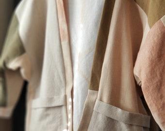 Patchwork Jacket, Upcycled, Naturally Dyed, Reversible, Slow Fashion