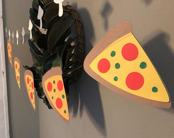 Pizza Garland, Pizza Party, Pizza decorations, Pizza Party Decor, Garland, Red Garland, Birthday Party Garland, Birthday Party