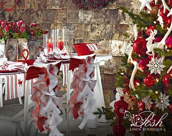 Christmas Chair Sashes- Set of 4 now only 35.99! Pre-made & ready to ship today!