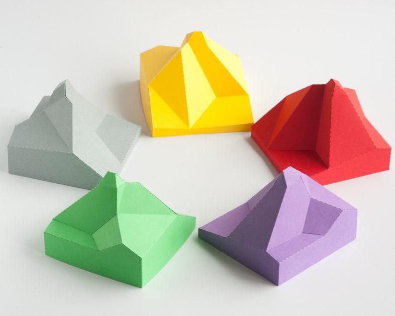 Matterhorn Colorful Precut Papercraft Mountain image 1