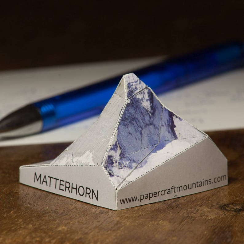 Matterhorn postcard papercraft scale model image 0