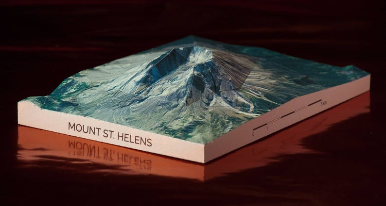 Mount St. Helens Papercraft Mountain High Quality Print image 1