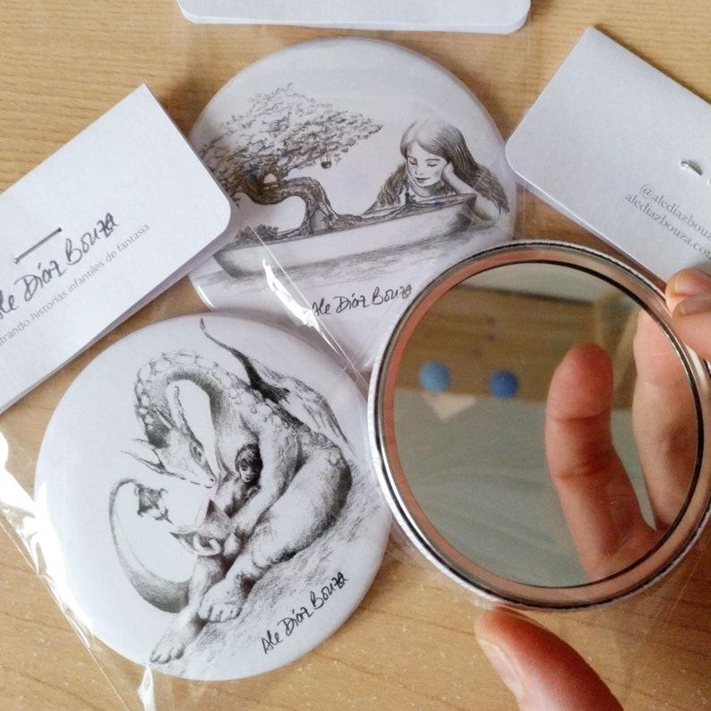 Pocket Mirror printed with original children fantasy image 0