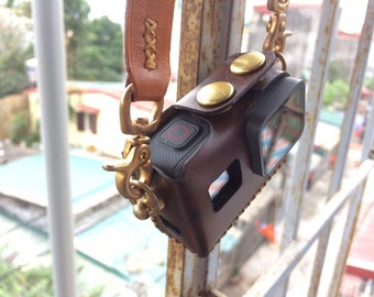 Handmade Leather Case for GoPro Hero 5 Black