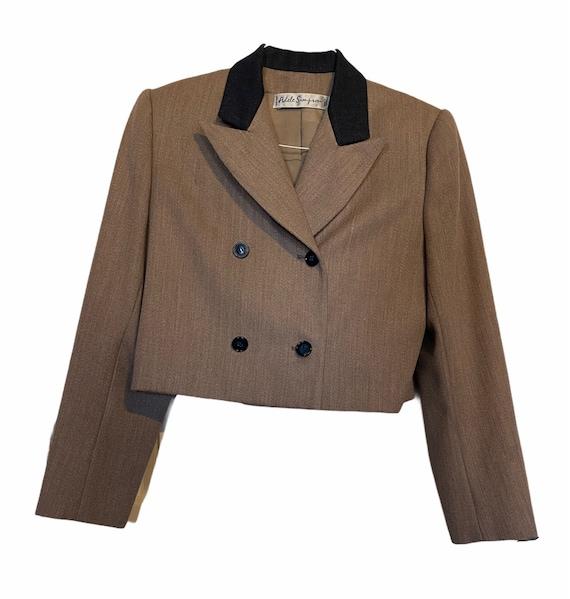 Vintage Couture Adele Simpson Cropped Blazer
