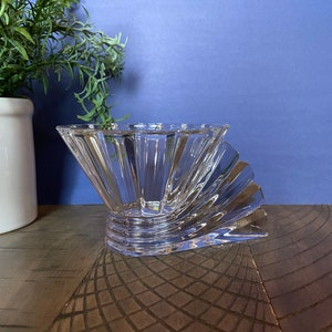 Vintage 70/'s Modernist Rosenthal Studio Linie Inca Crystal Ice Taper Candle Holders Set of 3