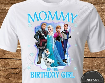 5d6a40153b62 Frozen Mommy of the Birthday Girl Iron On Transfer Frozen Iron On Transfer  Frozen Birthday Shirt Iron On Transfer Frozen Shirt Frozen Girl
