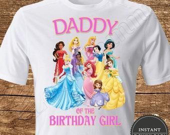 4708fb774 Disney Princess Daddy of the Birthday Girl Iron On Transfer Disney Princess  Iron On Transfer Princess Birthday Shirt Iron On Transfer