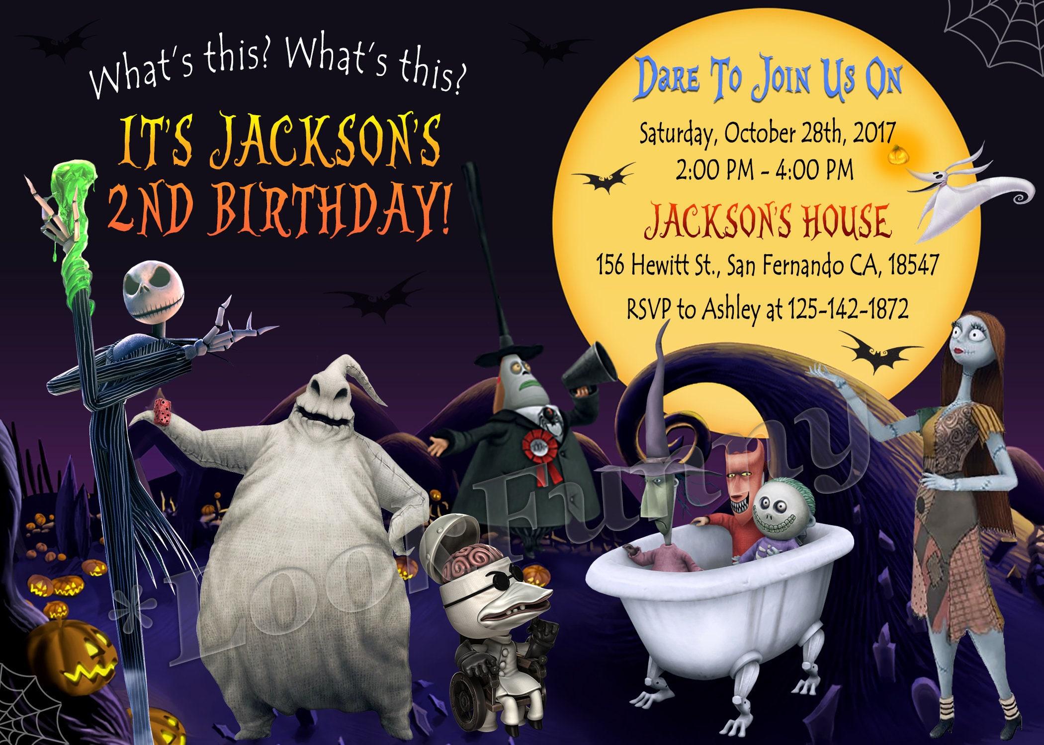 The Nightmare Before Christmas Invitation Halloween Printable | Etsy