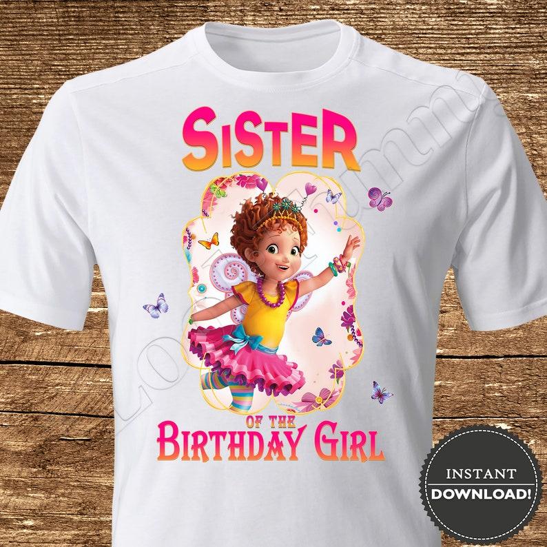 5cf421c21 Fancy Nancy Sister of the Birthday Girl Iron On Transfer Fancy   Etsy