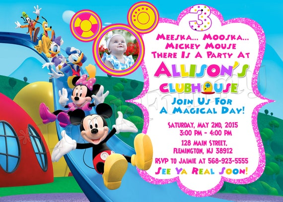 Mickey Mouse Clubhouse Invitation Mickey Mouse Clubhouse Birthday Mickey Mouse Clubhouse Party Mickey Mouse Clubhouse Invite Mickey Party