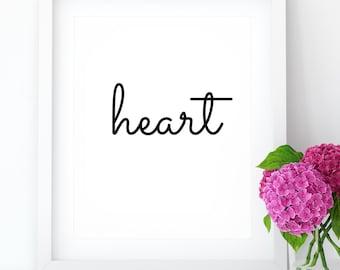 Valentine Printable Art Fall In Love Wall Art Watercolor