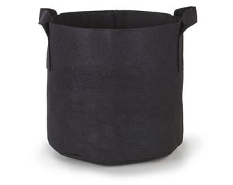 247Garden 7-Gallon Aeration Fabric Pot/Plant Grow Bag w/Handles (Black)