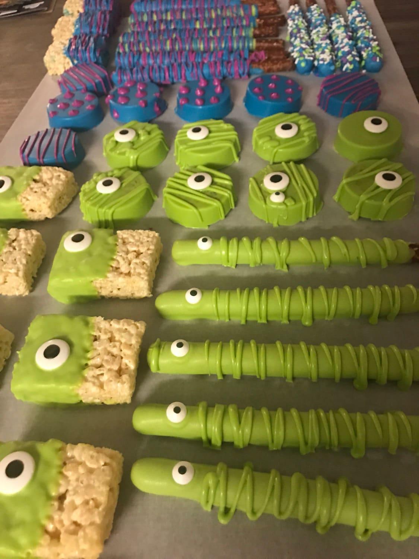 3 Dozen Monsters Inc Eyes Chocolate Covered Pretzels Oreos