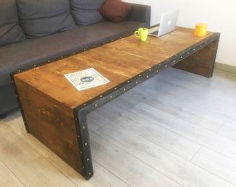 Coffee table (wood/metal)