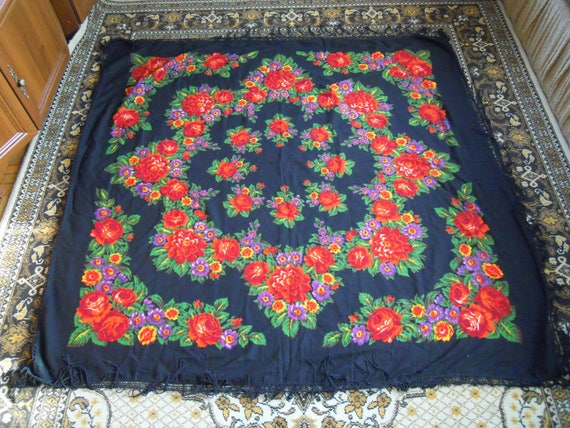 Large shawl, Wool shawl, Womens shawl, Ukrainian s