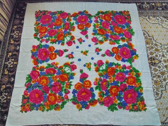 Woolen shawl, Large shawl, Winter shawl, Floral sh