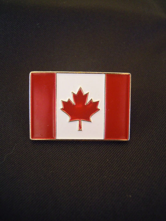 Badge pin, Metal enamel badge pin, Flag of Canada