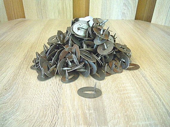 Metal large nail buttons, Wall nail buttons, Rust