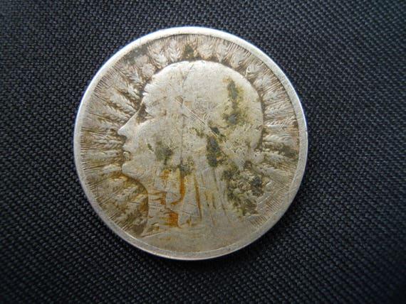 Polnische Münze 2 Zloty Silbermünze 1933 Antike Geld Etsy